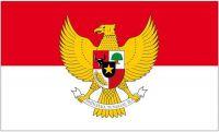 Flagge / Fahne Indonesien Wappen Hissflagge 90 x 150 cm