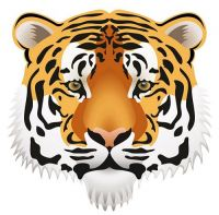 Aufkleber Sticker Tigerkopf