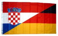 Fahne / Flagge Deutschland / Kroatien 90 x 150 cm
