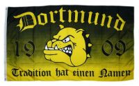 Fahne / Flagge Dortmund Tradition Bulldogge 90 x 150 cm