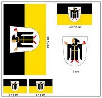Fahnen Aufkleber Set München