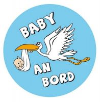 Aufkleber Sticker Baby an Bord Junge