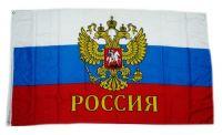 Fahne / Flagge Russland Adler Schrift 90 x 150 cm