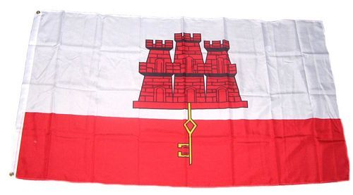 Flagge Fahne Gibraltar 90 x 150 cm