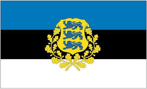 Flagge / Fahne Estland Wappen Hissflagge 90 x 150 cm
