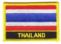 Fahnen Aufnäher Thailand Schrift