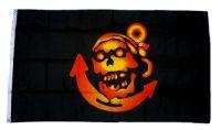 Fahne / Flagge Pirat Totenkopf Anker 90 x 150 cm