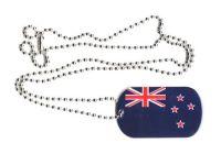 Dog Tag Fahne Neuseeland