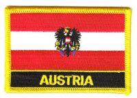 Fahnen Aufnäher Österreich Adler Schrift
