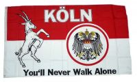 Fahne / Flagge Köln You´ll never walk alone 90 x 150 cm