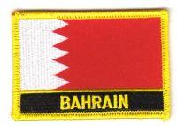 Fahnen Aufnäher Bahrain Schrift