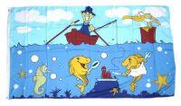 Fahne / Flagge Angler 90 x 150 cm