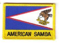 Fahnen Aufnäher Amerikanisch Samoa Schrift