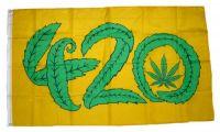 Fahne / Flagge Marijuana 420 90 x 150 cm