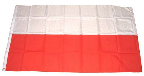 Flagge / Fahne Polen Hissflagge 90 x 150 cm