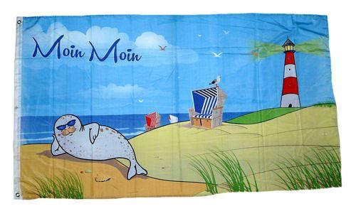 Fahne Schafe an der Küste Hissflagge 90 x 150 cm Flagge