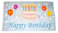 Fahne / Flagge Geburtstag Happy Birthday 90 x 150 cm