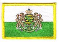 Fahnen Aufnäher Königreich Sachsen