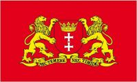 Fahne / Flagge Polen - Danzig Wappen 90 x 150 cm