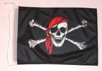 Bootsflagge Pirat mit Kopftuch 30 x 45 cm