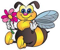 Aufkleber Sticker Hummel Blume