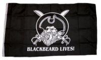 Fahne / Flagge Pirat Blackbeard Lives 90 x 150 cm