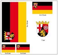 Fahnen Aufkleber Set Rheinland Pfalz