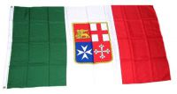 Flagge / Fahne Italien Wappen Hissflagge 90 x 150 cm