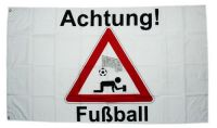 Fahne / Flagge Achtung Fußball 90 x 150 cm