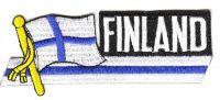Fahnen Sidekick Aufnäher Finnland
