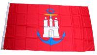 Flagge / Fahne Hamburg Hafen Hissflagge 90 x 150 cm