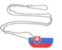 Erkennungsmarke Slowakei Dog Tag 30 x 50 mm Fahnen Flaggen