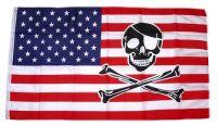 Fahne / Flagge USA - Totenkopf Skull 90 x 150 cm