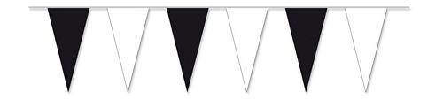 Wimpelkette schwarz / weiß 4 m