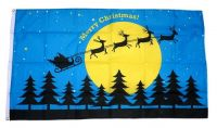 Fahne / Flagge Merry Christmas Schlitten NEU 90 x 150 cm
