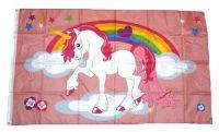 Fahne / Flagge Einhorn Regenbogen 90 x 150 cm