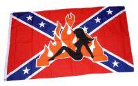 Fahne / Flagge Südstaaten - Lady Flammen 90 x 150 cm