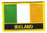 Fahnen Aufnäher Irland Schrift