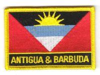 Fahnen Aufnäher Antigua & Barbuda Schrift