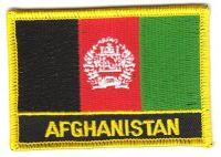 Fahnen Aufnäher Afghanistan Schrift