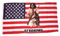 Fahne / Flagge USA - Geronimo Indianer 90 x 150 cm