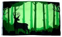 Fahne / Flagge Hirsch Silhouette 90 x 150 cm