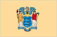 Fahnen Aufkleber Sticker USA - New Jersey