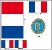 Fahnen Aufkleber Set Frankreich