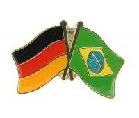 Fahnen Freundschaftspin Anstecker Brasilien