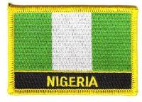 Fahnen Aufnäher Nigeria Schrift
