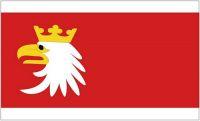 Fahne / Flagge Polen - Woiwodschaft Emland Masuren 90 x 150 cm