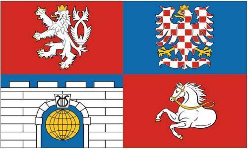 Fahne / Flagge Tschechien - Pardubice 90 x 150 cm