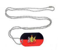 Erkennungsmarke Königreich Württemberg Dog Tag 30 x 50 mm Fahnen Flaggen