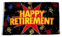 Fahne / Flagge Happy Retirement Rente 90 x 150 cm